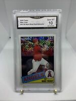 2020 Topps Mike Trout 85' Style Silver Pack Refractor GMA 10 Gem Mint