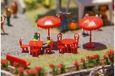 Faller 180910 HO 1/87 Parasols, tables, bancs