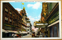 1920 San Francisco, CA Postcard: Chinatown - California