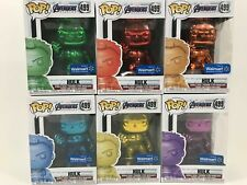 Funko Pop! Marvel AVENGERS ENDGAME HULK Chrome Set of 6 WALMART EXCLUSIVE