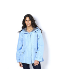Centigrade Radiance Sky Blue Jacket with Striped Lining Hood - Size: Small