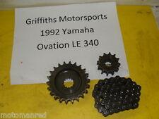 92 YAMAHA OVATION 340 89E LE CS340E 93 94? TRACK DRIVE CHAIN GEARS SPROCKETS
