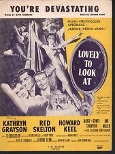 You're Devastating 1933 Lovely to Look At Sheet Music