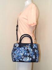 Michael Kors Kellen Floral Saffiano Leather XS Satchel Crossbody Bag in NAVY