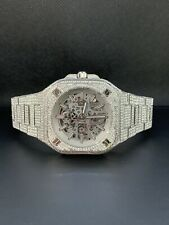 Bell & Ross BR 05 Automatic 40mm Men's Skeleton Watch ICED OUT 16ct DIAMONDS