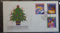 1987 NEW ZEALAND CHRISTMAS SET OF 3 STAMPS FIRST DAY COVER