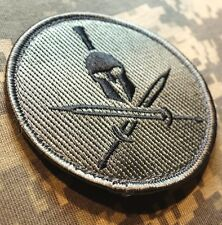 SPARTAN ARMY USA ISAF MORALE MILSPEC ACU DARK BADGE VELCRO® BRAND FASTENER PATCH