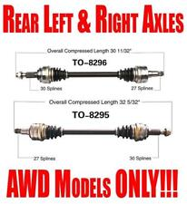 Rear Left and Right Axles for Lexus IS250 2006-2008 All Wheel Drive Models ONLY