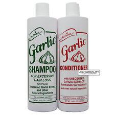 Nutrine Garlic Shampoo & Conditioner Unscented 16 Fl. Oz Duo for Hair Loss