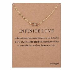 "Women's Fashion Jewelry ""Infinite Love"" Gold Pendant Necklace 11-2"
