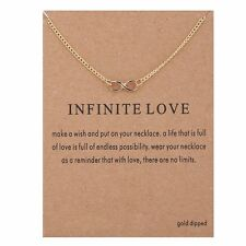 Infinite Love Gold Pendant Necklace Friend Gift US Seller Fast Shipping