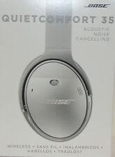 Bose QuietComfort 35 Silver wireless Headband Headsets Brand New