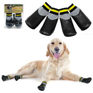 Pet Dog Shoes Waterproof Socks Non-Slip Rain Snow Injured Paws Protective Boots