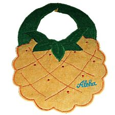 HAWAIIAN TROPICAL PINEAPPLE FRUIT QUILTED QUILT APPLIQUE ALOHA BABY BIB GIFT NEW