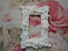 NEW! Roses & Flourish Single Rocker Wall Plate Resin French Country Chic 1967