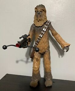 "Star Wars Talking Chewbacca Figure 15"" Disney Store with Crossbow Rifle"