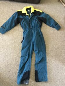 Vintage Retro Tyrolia By Head Skiwear Ski Suit One Piece Jumpsuit 80's  M Men's