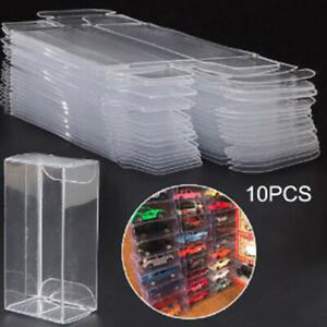 10Pcs/set PVC Clear Car Model Dust Proof Box Display Box Protection Box BOD