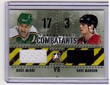 BASIL McRAE VS DAVE MANSON 10/11 ITG Enforcers Combatants Dual Jersey C-29