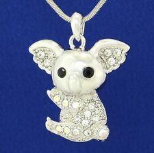 Australian Animal Pendant Necklace Jewelry W Swarovski Crystal Koala Bear Cute