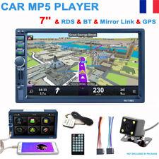 """7"""" Écran Tactile Autoradio 2Din Bluetooth Voiture Stéréo MP5 Player AUX GPS Navi"""