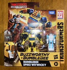 BUZZWORTHY BUMBLEBEE & SPIKE WITWICKY ~ Transformers War For Cybertron ~ Figures