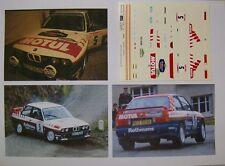 "BMW M3 RALLYE DES GUARRIGUES 1987 BERNARD BEGUIN ""BMW FRANCE"" DECALS 1/43"