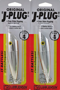 "(LOT OF 2) LUHR JENSEN 4-11/16"" J-PLUG 5004-004-0920 SILVER BULLET AR2207"