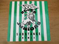 "Bocca Juniors  –  Substance (Remix) VINYL 12"" 33RPM UK 91 House Ragga 869381 1"
