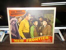 VINTAGE 100% ORIGINAL LOBBY CARD NEW FRONTIER JOHN WAYNE '39 3 MESQUITEERS