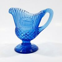 Old Mount Vernon Cobalt Blue Glass Sauce Pitcher made by Fostoria for Avon