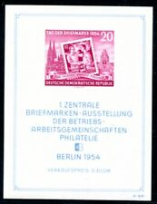 DDR 1954 Block 10 ** MINT striking type (a9928
