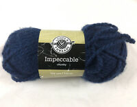 Loops & Threads Impeccable Yarn Dark Navy Chunky 3.5 Oz 109 Yards Skein New