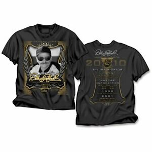 Dale Earnhardt Sr #3 Inaugural Hall of Fame 2-Sided Men's T-Shirt Black S M L XL