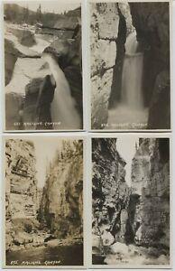 4 Vintage Jasper Park Alberta Maligne Canyon Real Photo Postcards Byron Harmon
