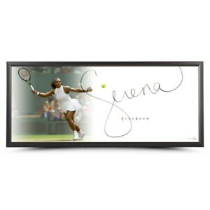 """Serena Williams Signed Autographed 20X46 Framed Photo The Show """"Forehand""""  UDA"""