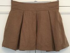TOPSHOP , WOOL BLEND, OPEN PLEATED SKIRT, SIZE 12. NEW.