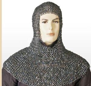 Flachniet mit flacher Unterlegscheibe Kettenhemd Coif 8mm Halloween Geschenk