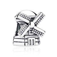 NEW WINDMILL Charm 100% 925 Sterling Silver Pandora