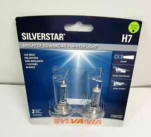 Sylvania Silverstar H7 Pair Set High Performance Headlight 2 Bulbs