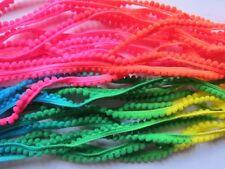 10Y neon changing Tiny Pom Pom Trim (pom size 5mm), Mini Pom Pom Trim-Colorful