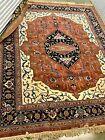 """Vintage Hand-knotted Pakistani Heriz, Oriental Rug 97"""" x 129"""""""