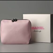 Beautiful Brand New Chanel Pink Soft Cosmetic Make Up Bag Great Gift UK Genuine