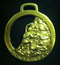 Oversized Mountaineer Horse Harness Brass Rock Climber Gift! Wow Your Walls!