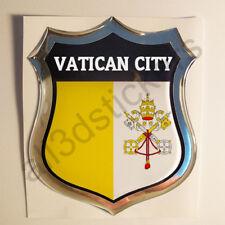 Sticker Vatican City Emblem 3D Resin Domed Gel Vatican City Flag Vinyl Decal Car