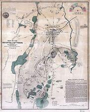MAP ANTIQUE USA CIVIL WAR BATTLEFIELD GETTYSBURG REPLICA POSTER PRINT PAM1249