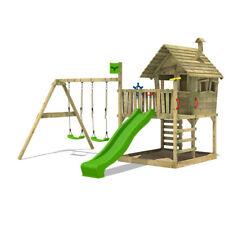 FATMOOSE Spielturm Spielhaus WackyWorld Mega XXL mit Doppelschaukel & Rutsche