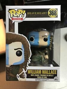 Funko Pop BRAVEHEART William Wallace 368 Vaulted Mel Gibson W/ Pop Protector