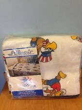 "Vintage Vintage St. Mary's Twin Blanket 1980 Olympics ""Sam the Eagle"" NOS *"