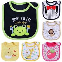 Newborn Toddler Infant Baby Boy Girl Cartoon Bibs Waterproof Saliva Towel Intrig